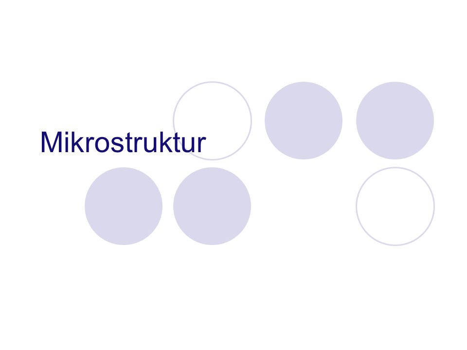 Mikrostruktur