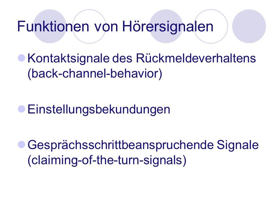 Funktionen von Hörersignalen