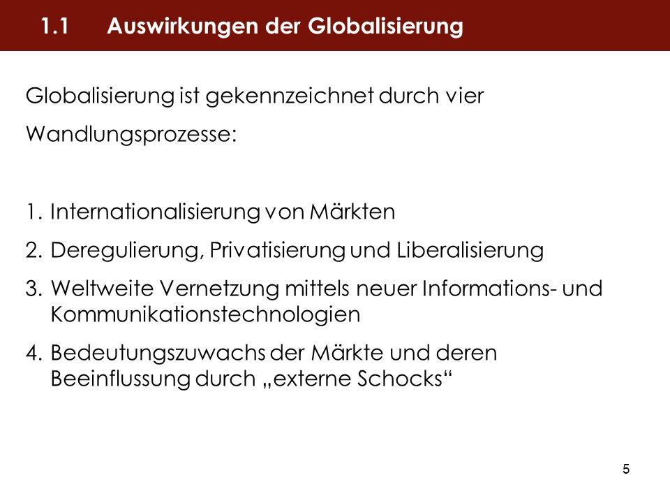 1.1 Auswirkungen der Globalisierung