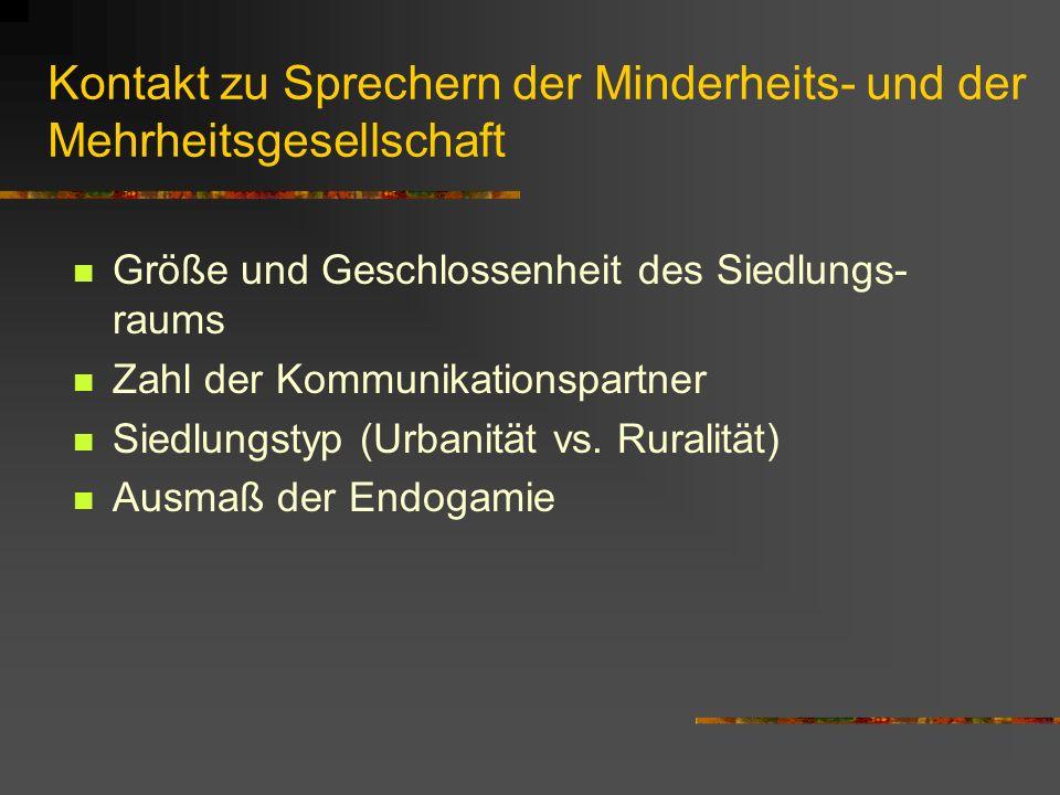 Kontakt zu Sprechern der Minderheits- und der Mehrheitsgesellschaft