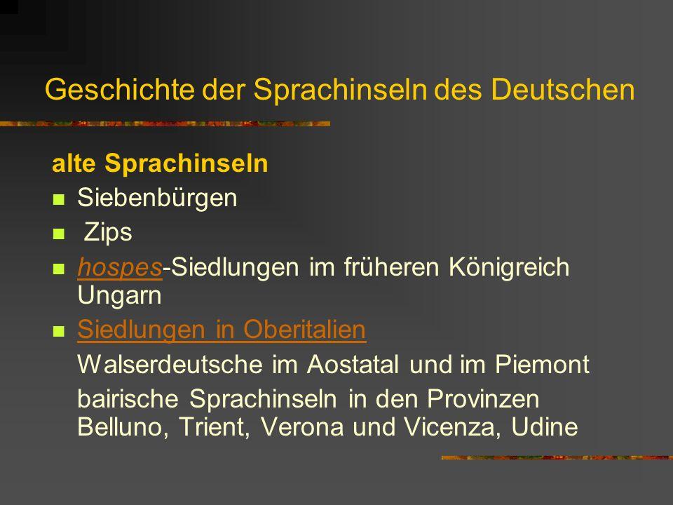 Geschichte der Sprachinseln des Deutschen
