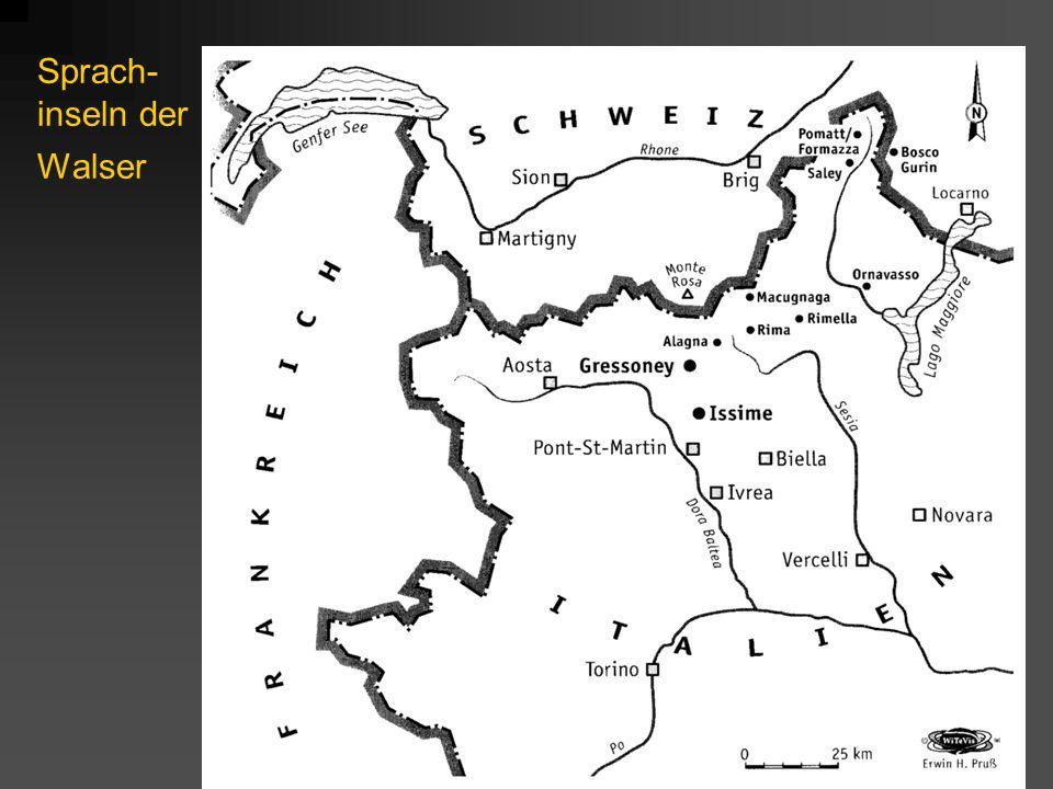 Sprach-inseln der Walser
