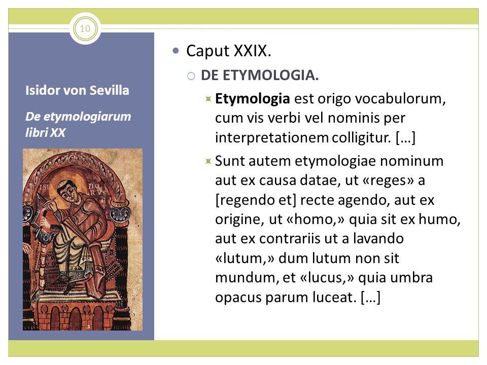 Caput XXIX. DE ETYMOLOGIA.