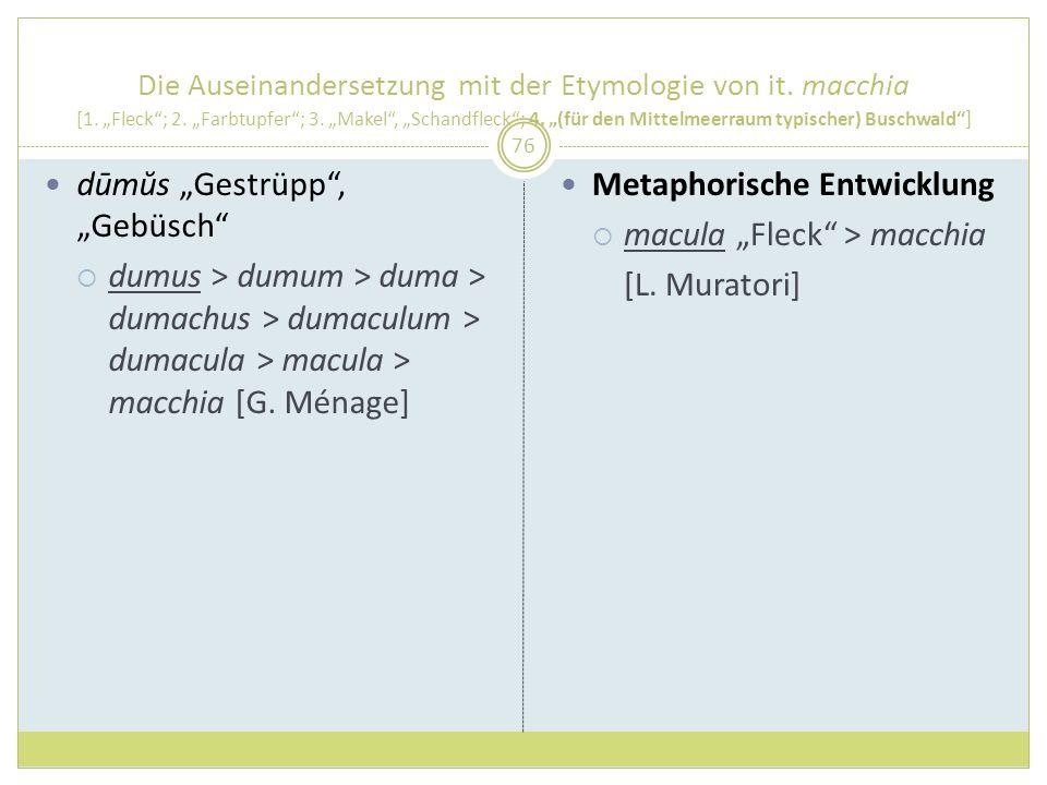 """dūmŭs """"Gestrüpp , """"Gebüsch"""