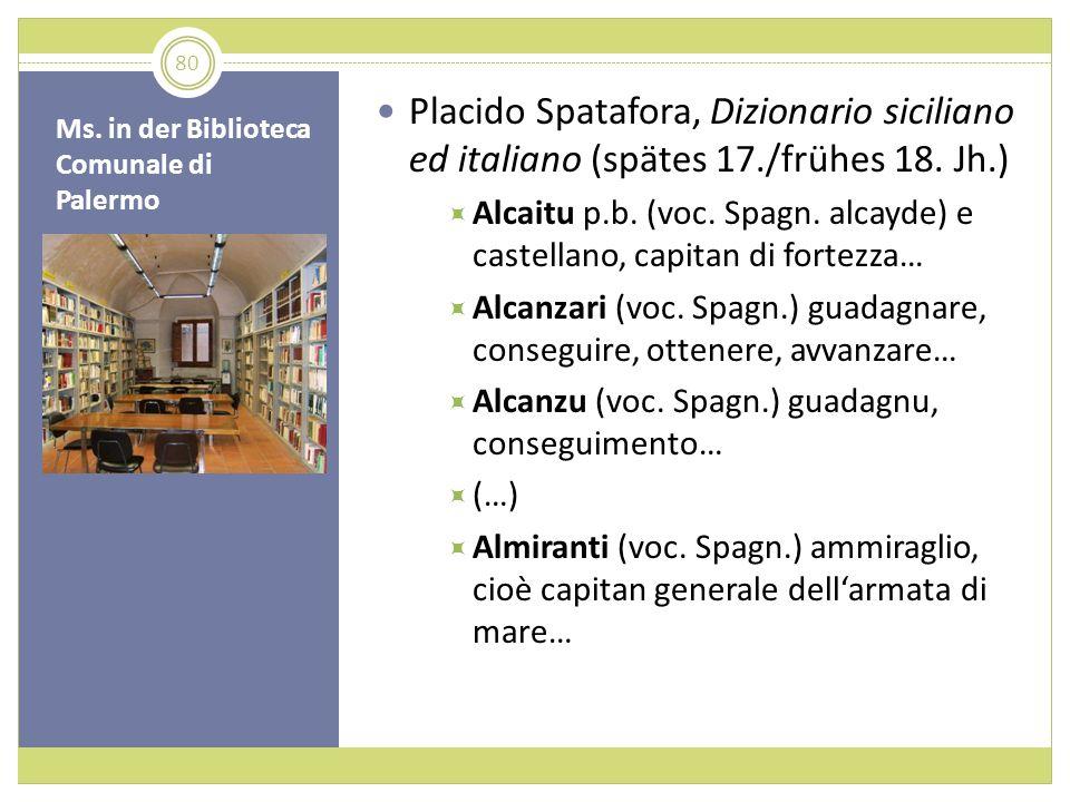 Ms. in der Biblioteca Comunale di Palermo