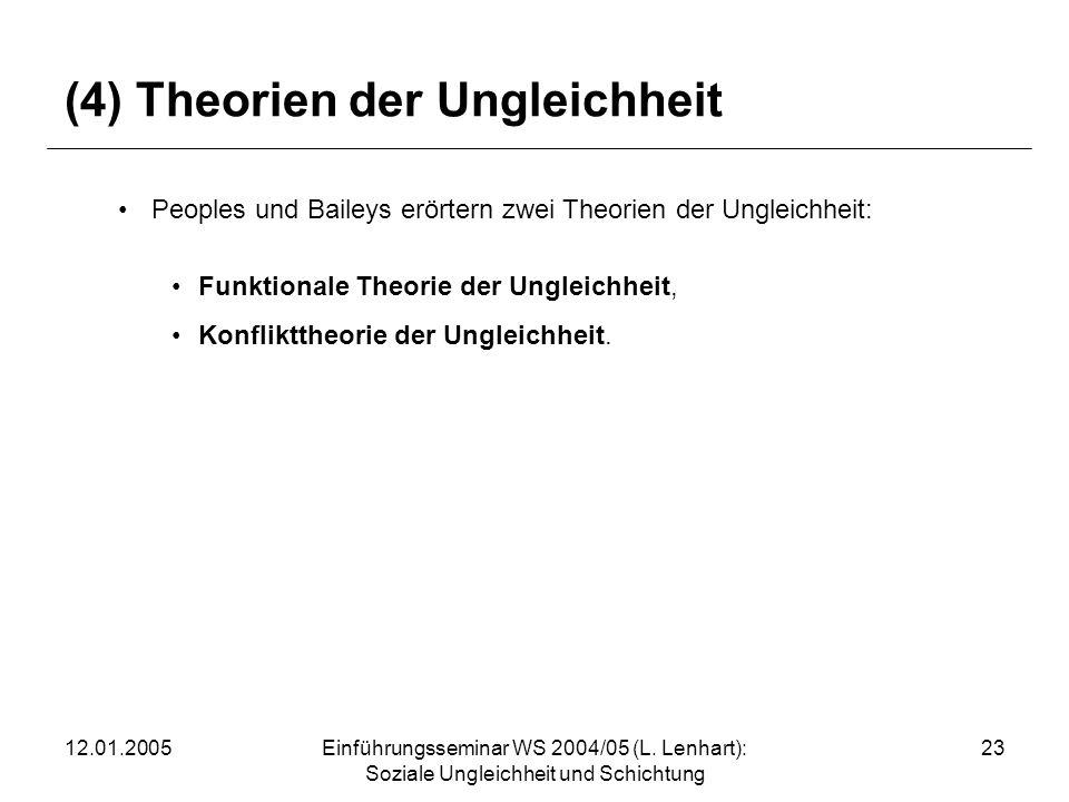 (4) Theorien der Ungleichheit