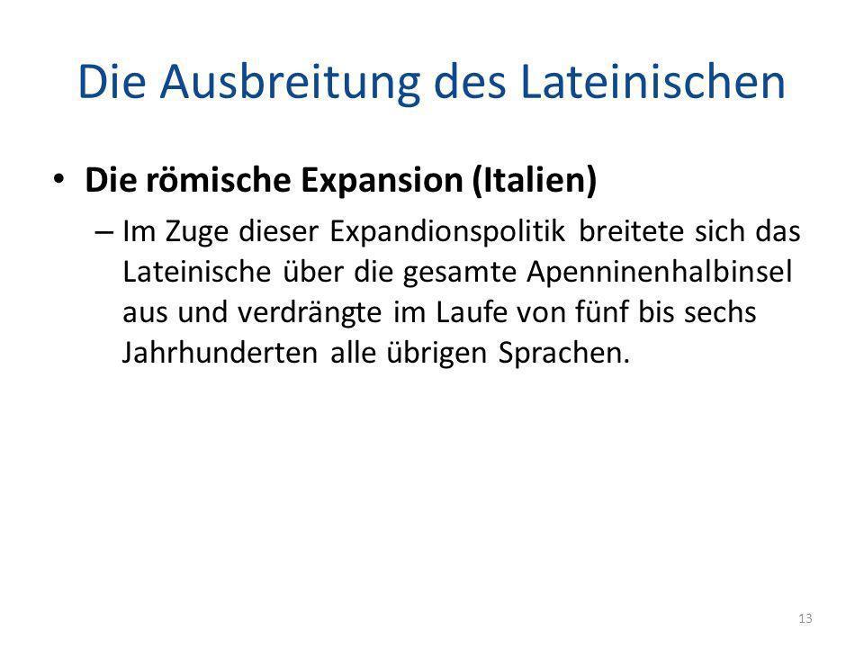 Die Ausbreitung des Lateinischen
