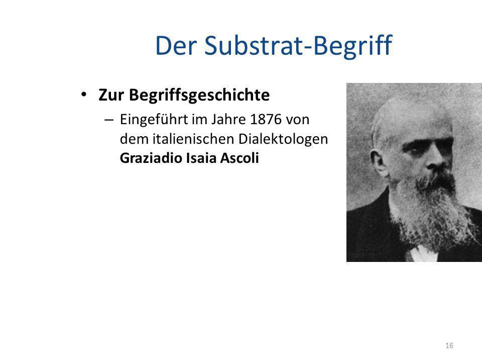 Der Substrat-Begriff Zur Begriffsgeschichte