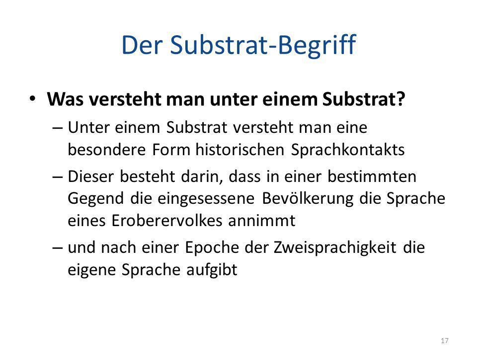 Der Substrat-Begriff Was versteht man unter einem Substrat