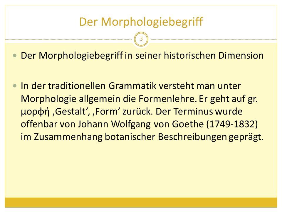 Der Morphologiebegriff