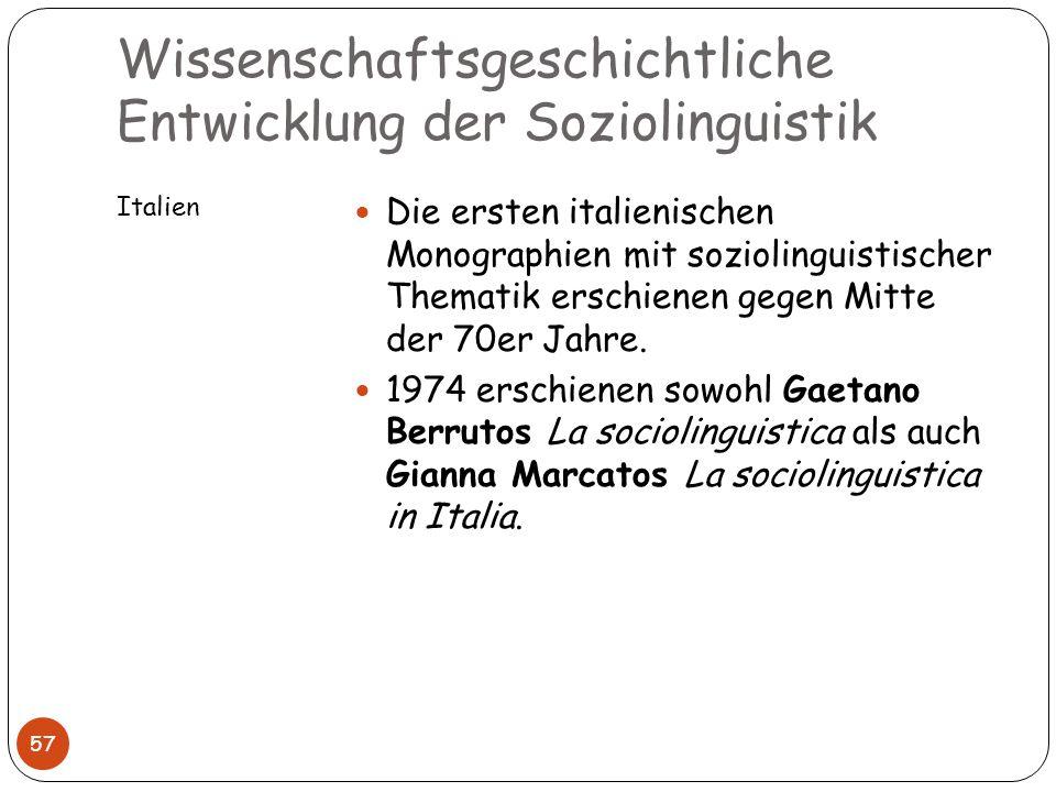 Wissenschaftsgeschichtliche Entwicklung der Soziolinguistik