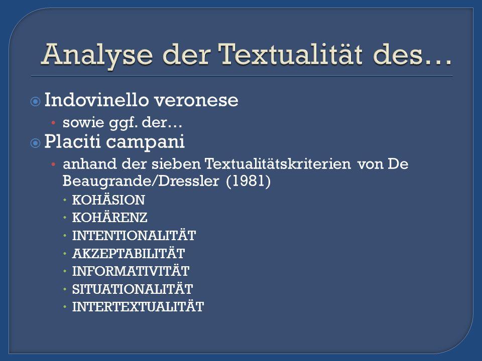 Analyse der Textualität des…