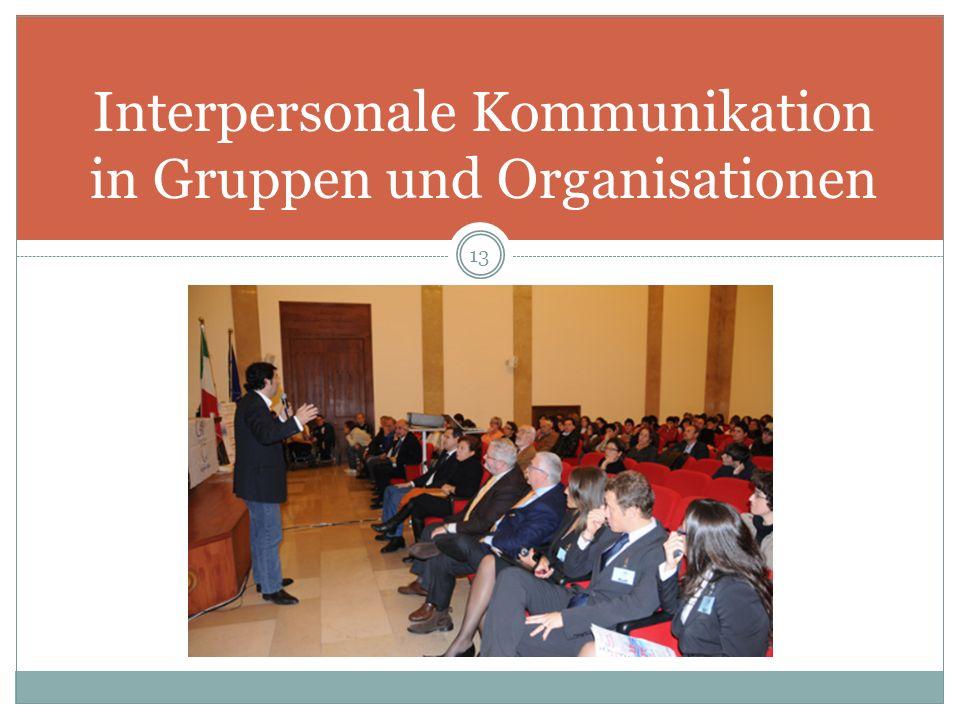 Interpersonale Kommunikation in Gruppen und Organisationen