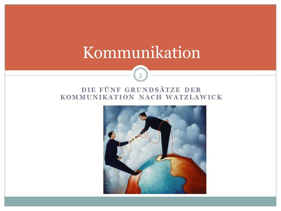Die fünf Grundsätze der Kommunikation nach Watzlawick