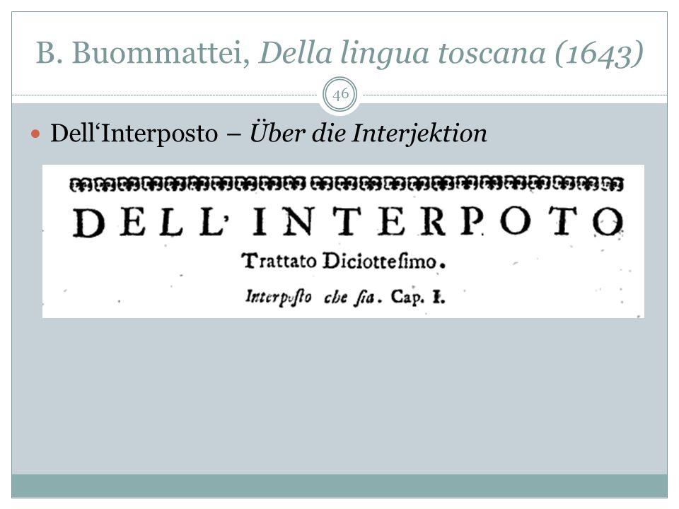 B. Buommattei, Della lingua toscana (1643)