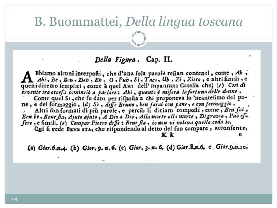B. Buommattei, Della lingua toscana