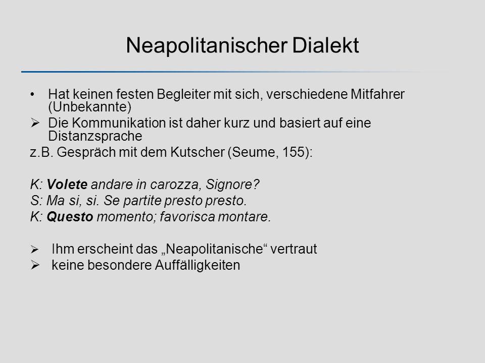 Neapolitanischer Dialekt