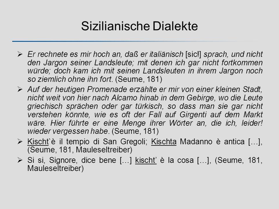 Sizilianische Dialekte