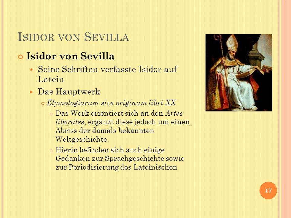 Isidor von Sevilla Isidor von Sevilla