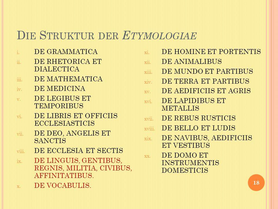 Die Struktur der Etymologiae