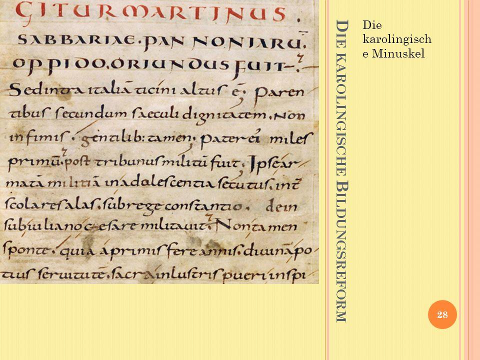 Die karolingische Bildungsreform