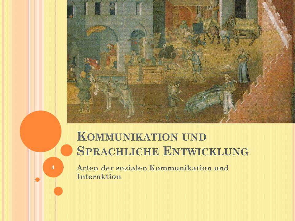 Kommunikation und Sprachliche Entwicklung