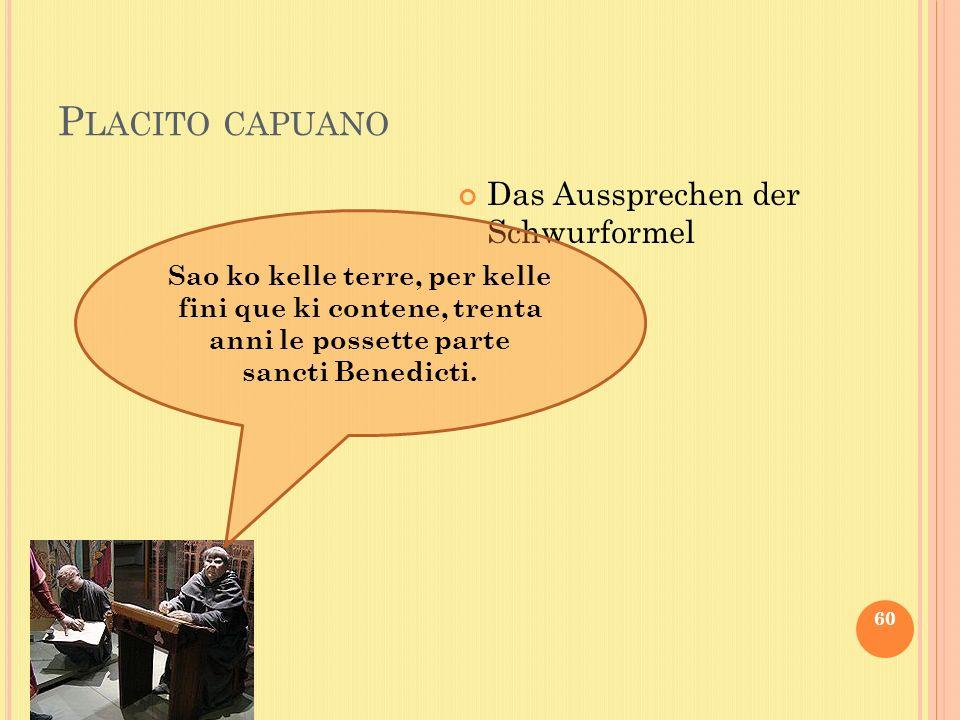 Placito capuano Das Aussprechen der Schwurformel