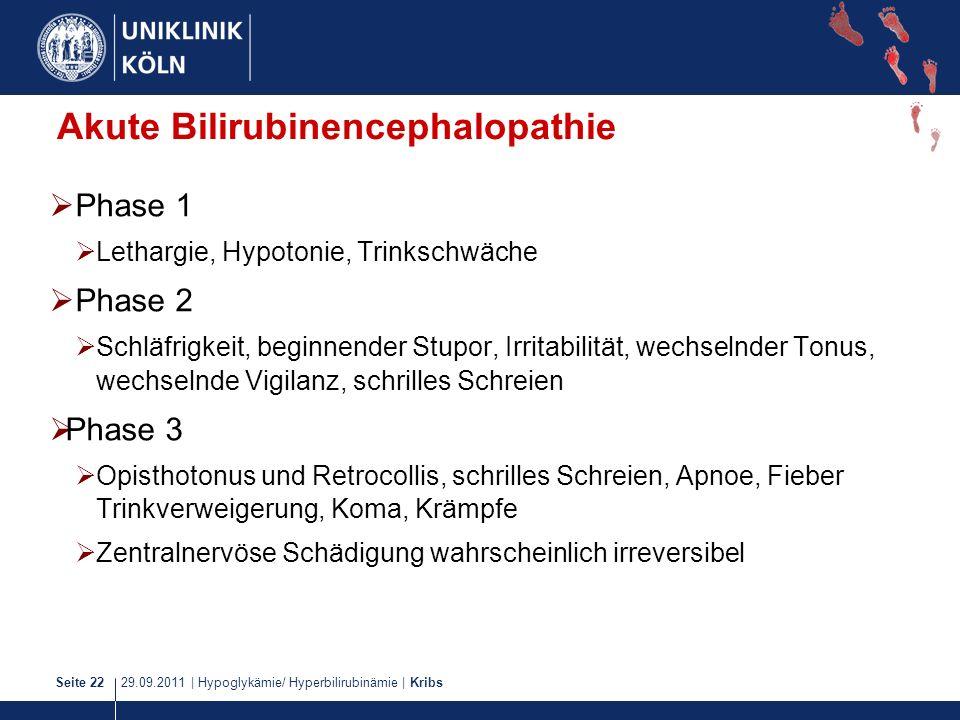 Akute Bilirubinencephalopathie
