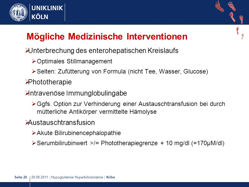 Mögliche Medizinische Interventionen