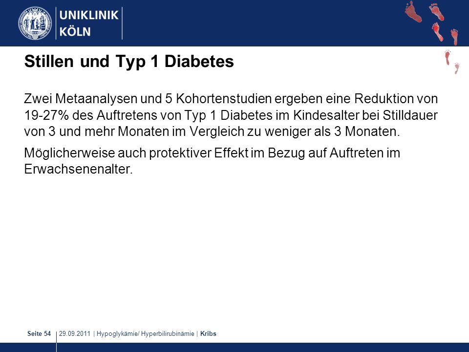 Stillen und Typ 1 Diabetes