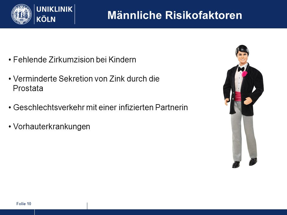 Männliche Risikofaktoren