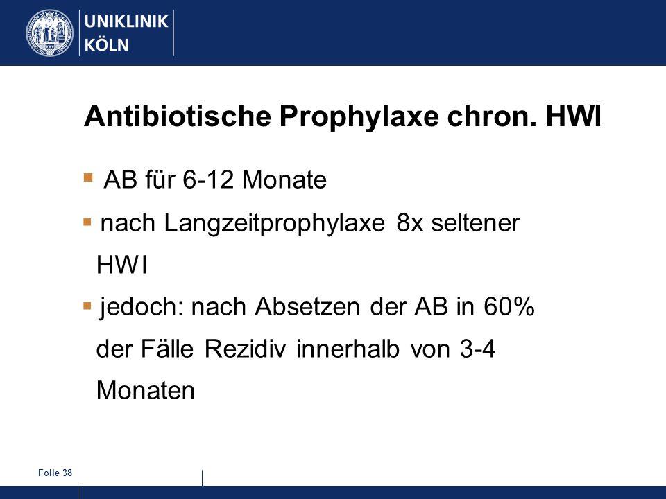 Antibiotische Prophylaxe chron. HWI