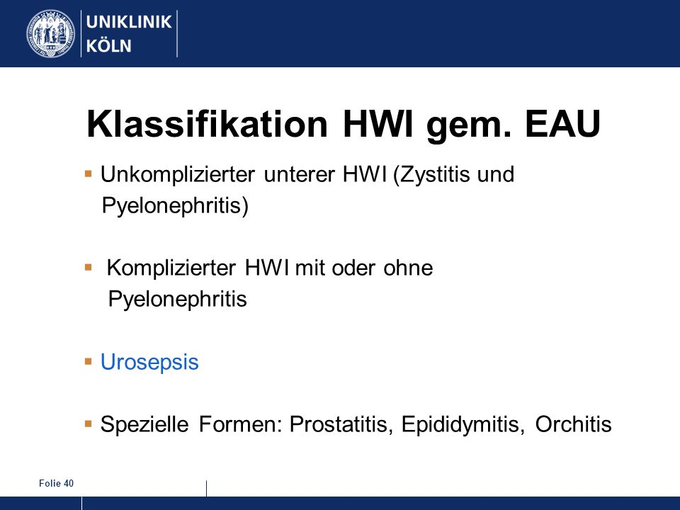 Klassifikation HWI gem. EAU