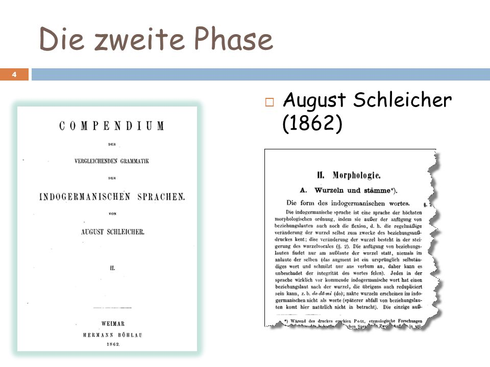 Die zweite Phase August Schleicher (1862) (764 Seiten)