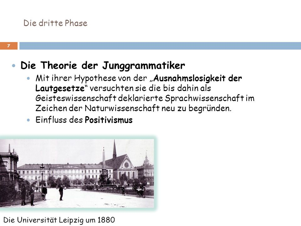 Die Theorie der Junggrammatiker