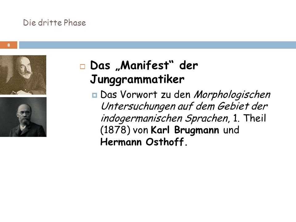 """Das """"Manifest der Junggrammatiker"""