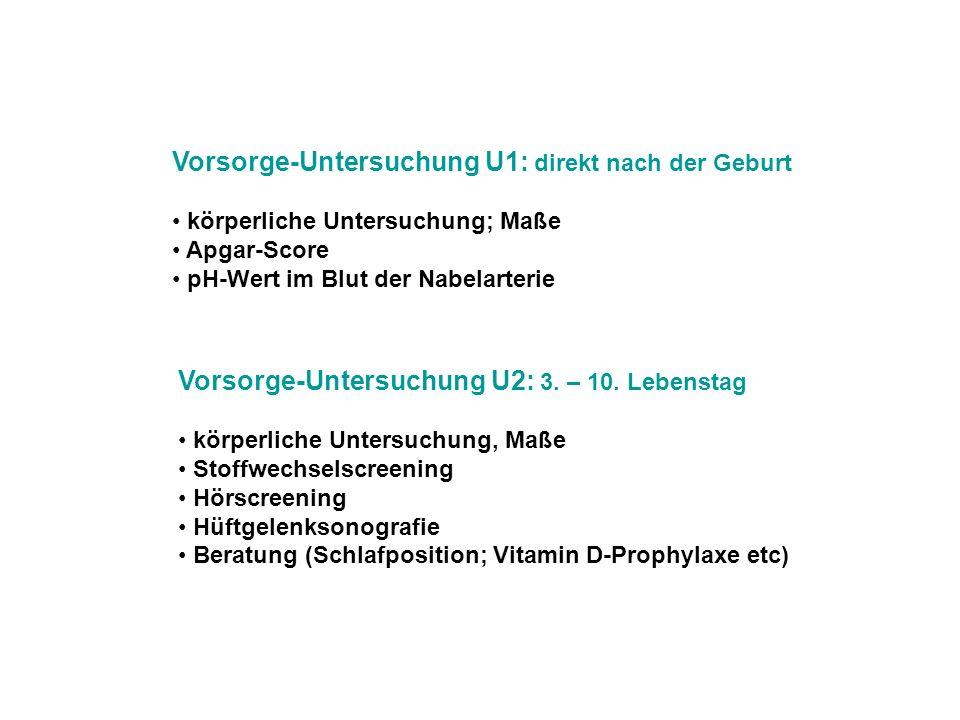 Vorsorge-Untersuchung U1: direkt nach der Geburt