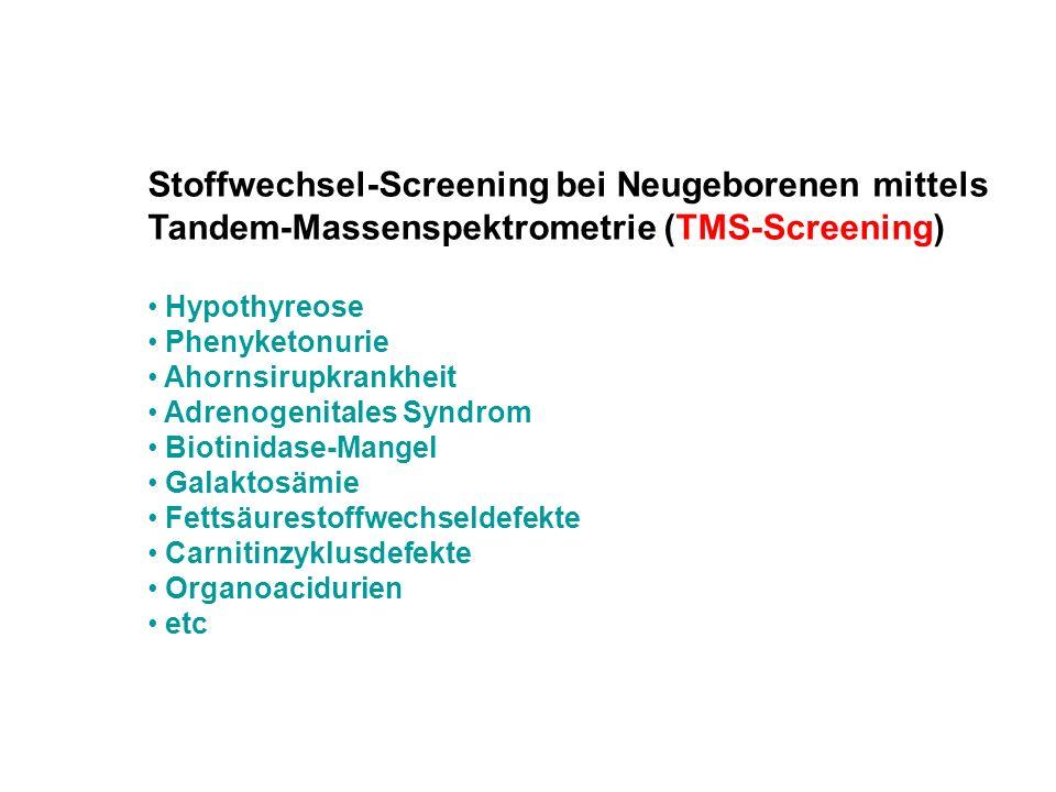Stoffwechsel-Screening bei Neugeborenen mittels