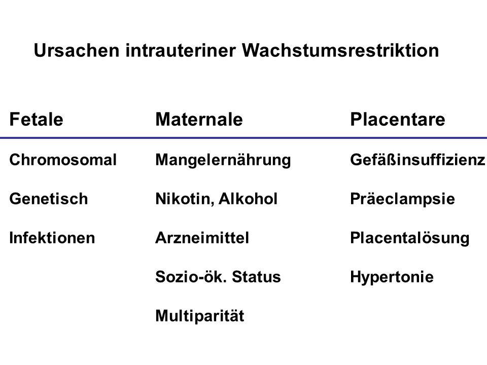 Ursachen intrauteriner Wachstumsrestriktion