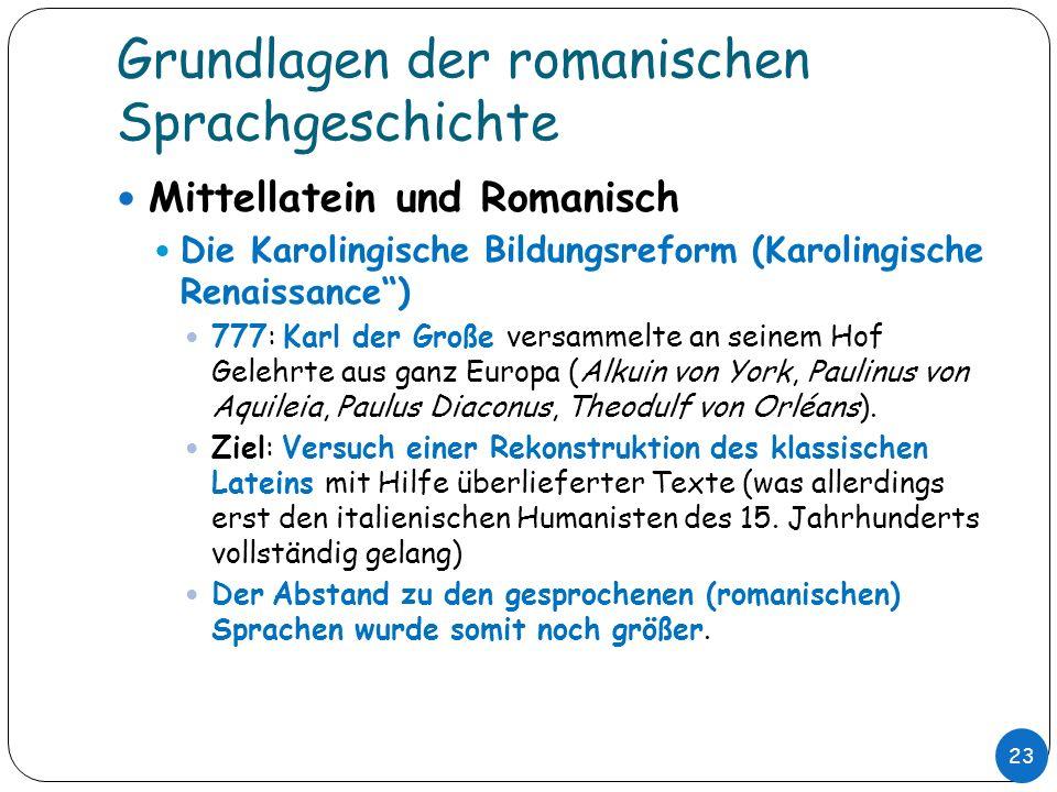 Grundlagen der romanischen Sprachgeschichte