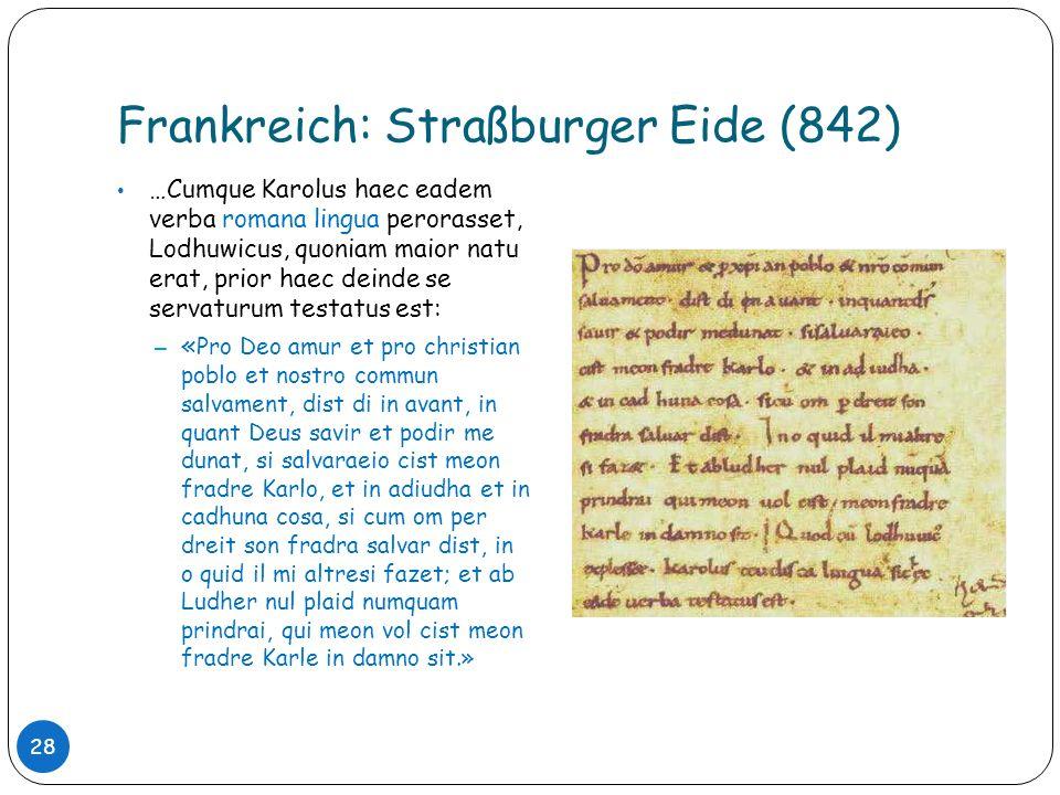 Frankreich: Straßburger Eide (842)