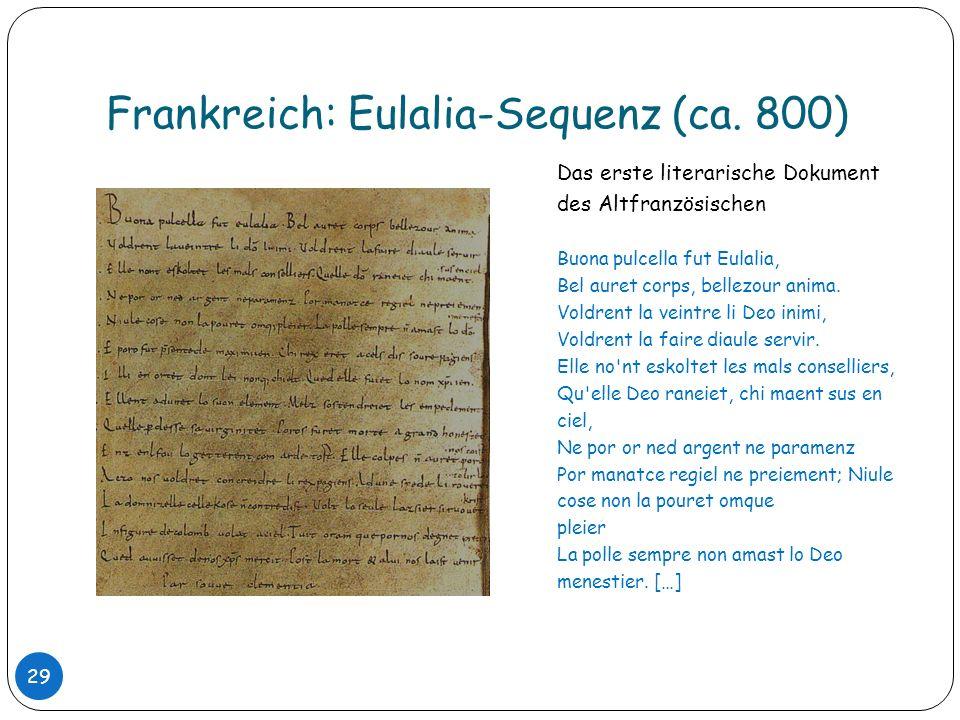 Frankreich: Eulalia-Sequenz (ca. 800)