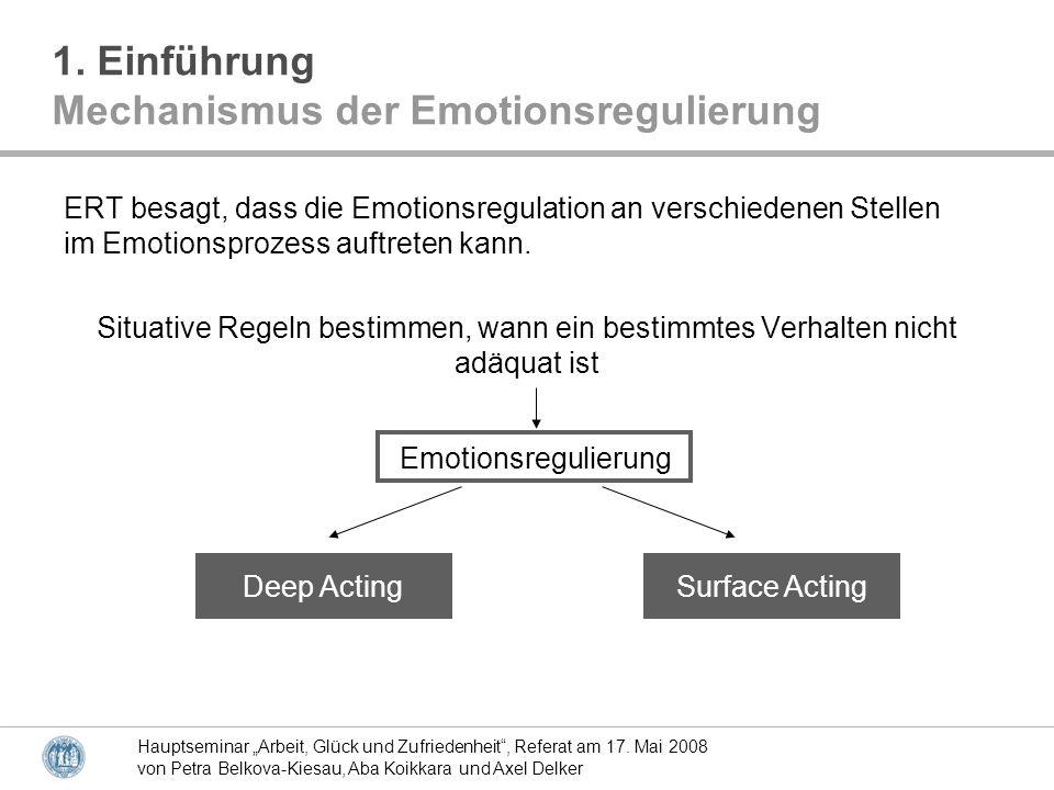 Mechanismus der Emotionsregulierung