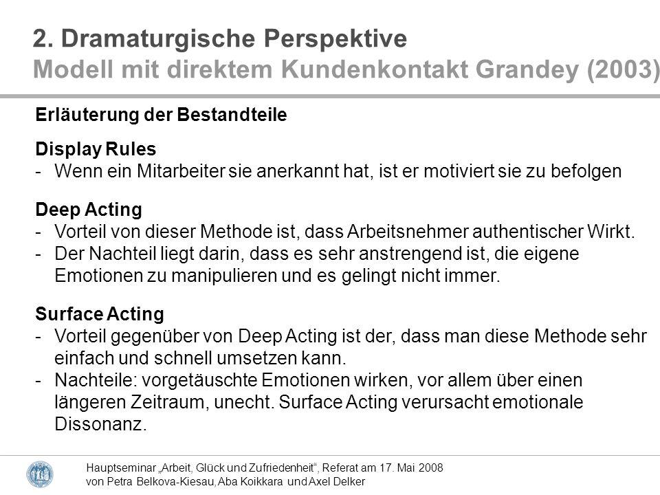 2. Dramaturgische Perspektive