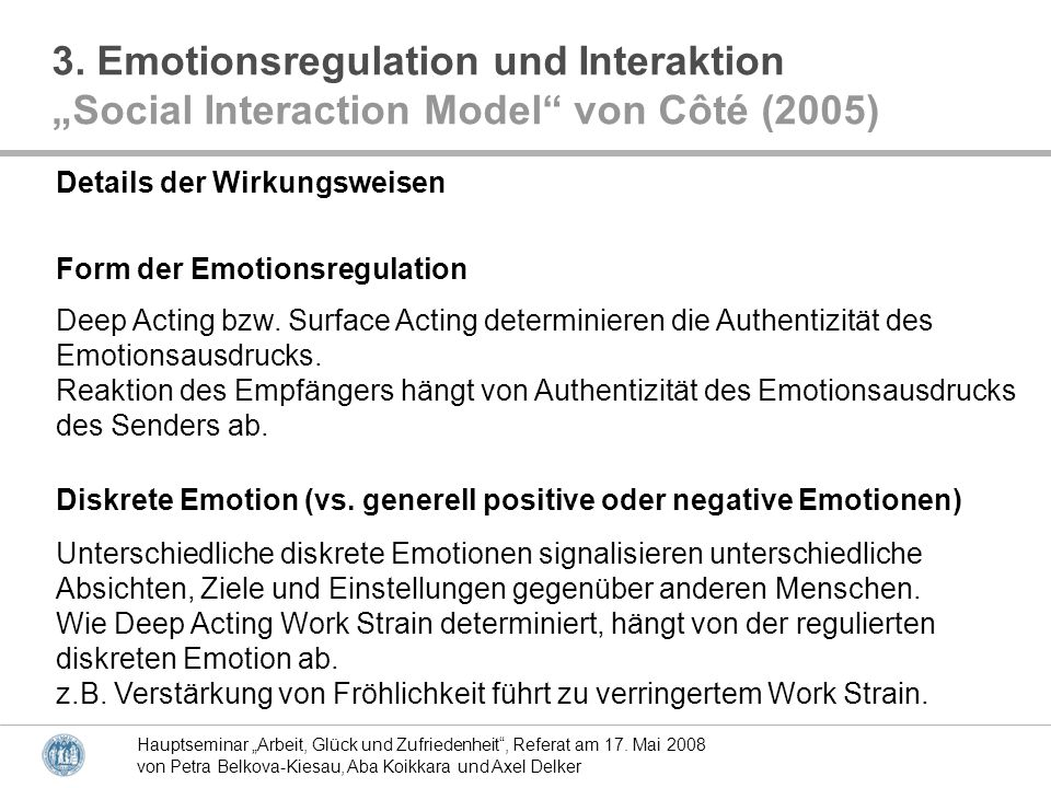 3. Emotionsregulation und Interaktion