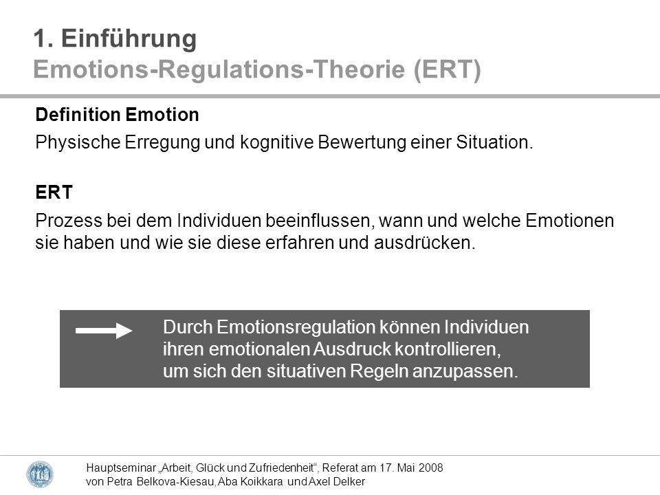 Emotions-Regulations-Theorie (ERT)