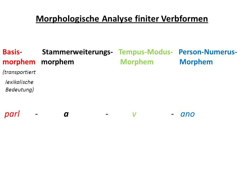 Morphologische Analyse finiter Verbformen