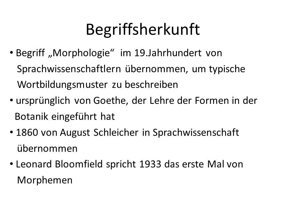 """Begriffsherkunft Begriff """"Morphologie im 19.Jahrhundert von"""
