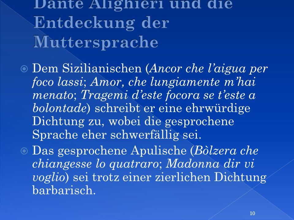 Dante Alighieri und die Entdeckung der Muttersprache