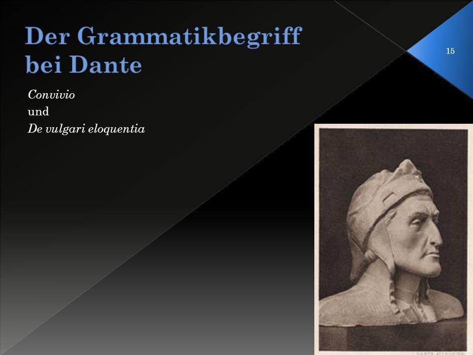 Der Grammatikbegriff bei Dante